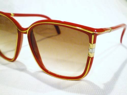 Vintage LEONARD SUNGLASSES sexy FRENCH RED  HOT