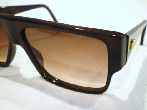 Vintage EMMANUELLE KHANH EK SUNGLASSES DARK BROWN