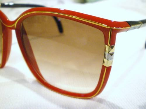 Vintage LEONARD SUNGLASSES sexy FRENCH RED BLACK HOT