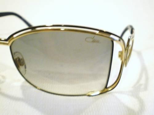NEW CAZAL 975 SUNGLASSES GOLD BLACK MADE GERMANY LIMITE