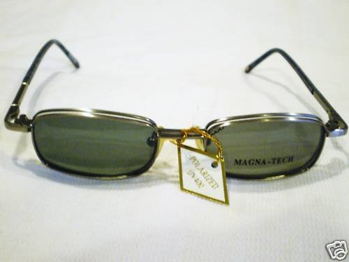 VINTAGE MAGNA-TECH EYEGLASSES MAGNETIC CLIP  POLARIZED