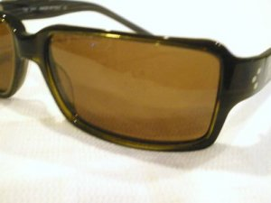 VINTAGE MIYAGI Sunglasses BROWN WITH SILVER STUDS