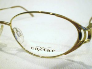 NEW CAVIAR COLLECTION EYEGLASSES GOLD SILVER 53-16-130