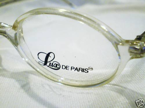 NEW LUX DE PARIS CLEAR EYEGLASSES SPRING HINGES 46-20