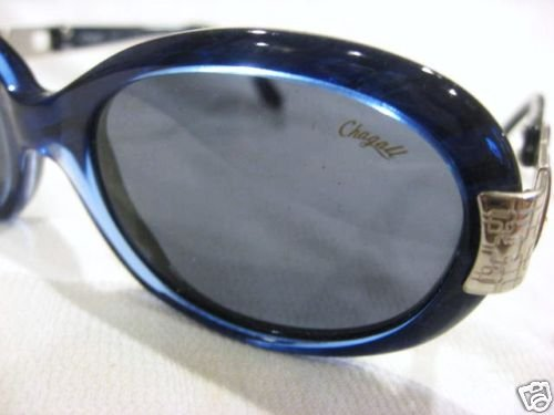 VINTAGE CHAGALL  SUNGLASSES PEARL BLUE SILVER ITALY