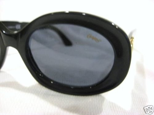 VINTAGE CHAGALL  SUNGLASSES BLACK GOLD LIMITED ITALY