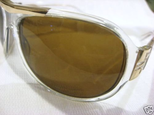 NEW PAL ZILERI SUNGLASSES WRAPAROUND CLEAR MADE ITALY