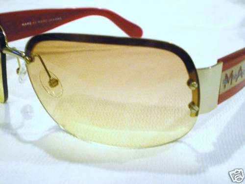 NEW MARC JACOBS SUNGLASSES RED GOLD SHIELDS MOD.016S