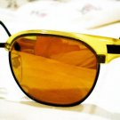 VINTAGE REPORTER JAPAN SUNGLASSES PEARL YELLOW BLACK