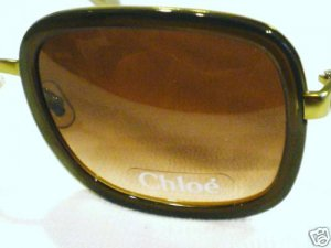 NEW CHLOE OLIVE GREEN GOLD SUNGLASSES FRANCE UNIQUE HOT