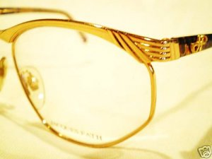 VINTAGE JACQUES FATH EYEGLASSES MULTICOLOR GOLD 91700