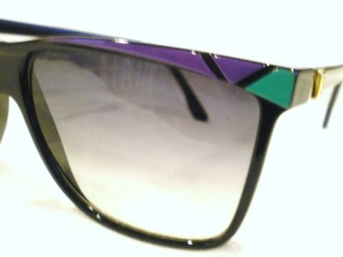 Vintage MADE IN FRANCE SUNGLASSES PURPLE GREEN BLACK