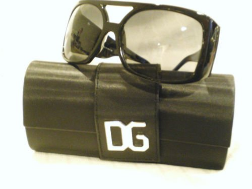 NEW Dolce Gabbana 4018B Sunglasses BLACK SILVER 61-16
