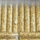 WHOLESALE - 500 GOLD FLAKE VIALS + 40 GRAMS SILVER LEAF