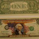 COLORIZED USA DOLLAR $1 U.S. BILL NOTE MINT COLLECTIBLE
