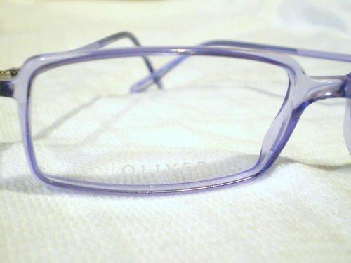 New OLIVER Eyeglasses TRANSPARENT VIOLET SPRING HINGES