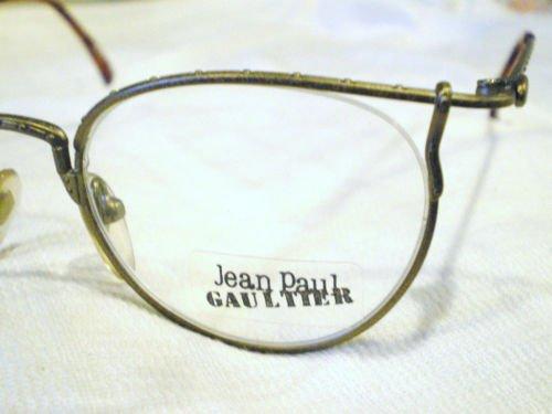Vintage JEAN PAUL GAULTIER JPG EYEGLASSES ANIQUE GOLD