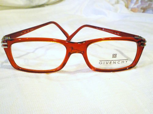 New Authentic Givenchy Eyeglasses  RED SILVER 52-17-130