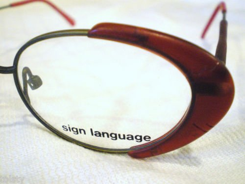 VINTAGE SIGN LANGUAGE EYEGLASSES BURGUNDY 46-20-145