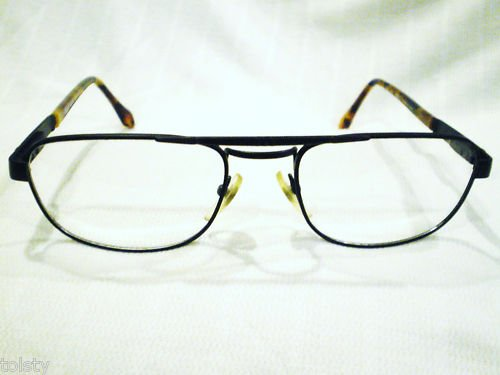 NEW PERSOL  EYEGLASSES BLACK SPRING HINGES 55-19-142