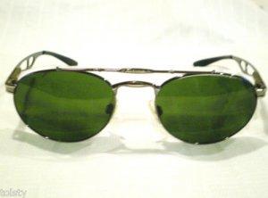 NEW ALPINA Sunglasses GUNMETAL SILVER AVIATOR  SPRING HINGES 57-21-140