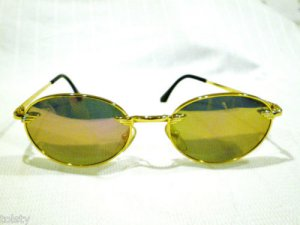 VINTAGE SUNGLASSES POLICE GOLD  MIRROR  MOD.2192 52-19-135