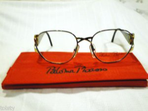 VINTAGE PALOMA PICASSO EYEGLASSES MULTICOLOR GOLD HOT 55-18 MAID IN  AUSTRIA