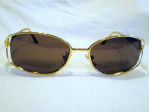 Vintage GIANNI VERSACE SUNGLASSES GOLD  MOD M02/S WOW MADE IN ITALY