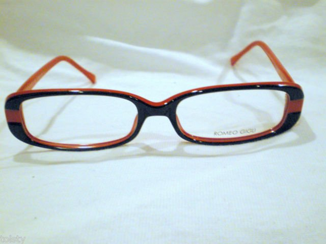 NEW  EYEGLASSES ROMEO GIGLI RED BLACK 52-16-140  MOD.RG36201 HOT MADE IN ITALY