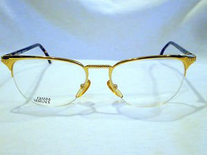NEW GIANNI VERSACE RIMLESS EYEGLASSES GOLD TORTOISE MOD.V64 55-17-140