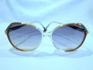 Vintage ADONNA Oversized Sunglasses RED BLACK CLEAR  58-18-140