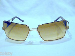NEW CAZAL SUNGLASSES  GOLD PEARL BROWN MOD. 969 60-16-130 MADE IN GERMANY