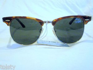 NEW KENZINTON CLASSIC CLUBMASTER SUNGLASSES TORTOISE SILVER 48-19-135