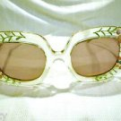 VINTAGE Sunglasses HIPPIE girl eyewear by EDWARDO made in France very unique pai