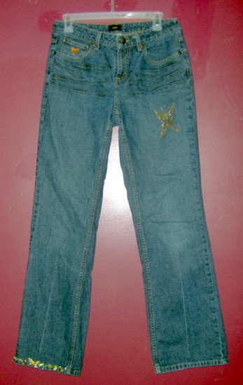 Hand Embellished Jeans - GAP 6 Boot Cut