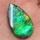 Huge Blue Green 24x14mm natural ammolite gemstone for Pendant