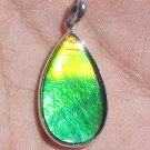 Grade A Canadian 23x13mm Ammolite Pear Shape in Sterling Silver Pendant