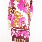Kaftan Caftan Tunic Top Poncho Batik 5X-Hibiscus P098