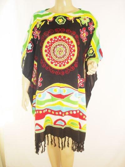 Kaftan Caftan Tunic Top Poncho Batik 5X-Abstract P102