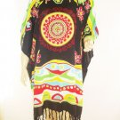 Kaftan Caftan Tunic Top Poncho Batik 5X-Abstract P102