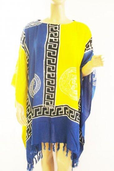 Kaftan Caftan Tunic Top Poncho Batik 5X-Abstract P033