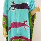 Kaftan Caftan Tunic Top Poncho Batik 5X-Gecko P038