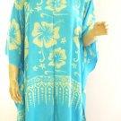 Kaftan Caftan Tunic Top Poncho Batik 5X-Hibiscus P031