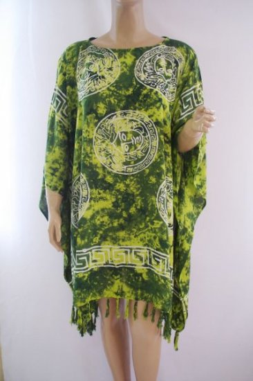 Kaftan Caftan Tunic Top Poncho Batik 5X-Abstract P077