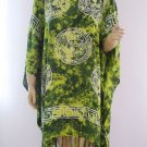 Kaftan Caftan Tunic Top Poncho Batik 5X-Abstract P077