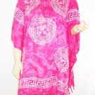Kaftan Caftan Tunic Top Poncho Batik 5X-Abstract P088
