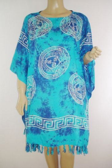 Kaftan Caftan Tunic Top Poncho Batik 5X-Abstract P089