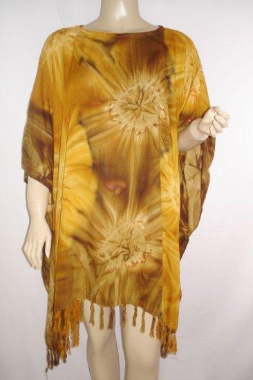 Kaftan Caftan Tunic Top Poncho Batik 5X-Tie Dye P080