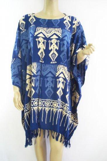 Kaftan Caftan Tunic Top Poncho Batik 5X-Tribal P019