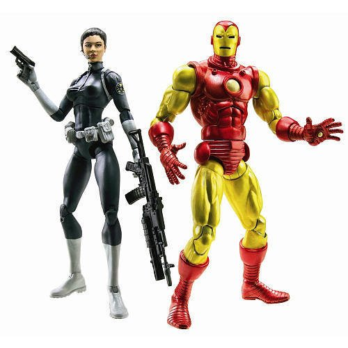 Marvel Legends Shield 2-Pk Iron Man and Maria Hill